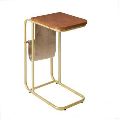 Silverwood Rex Brown and Gold Magazine Holder C Table - Home Depot