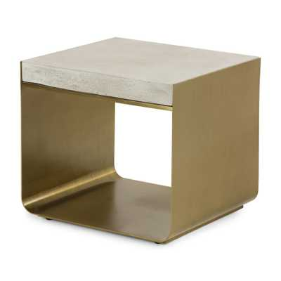 Dexter Concrete Top End Table - Crate and Barrel
