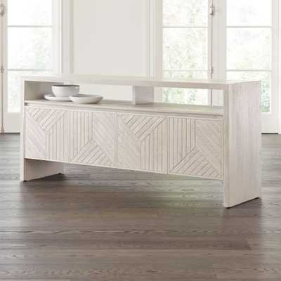 Dunewood Whitewashed Sideboard - Crate and Barrel