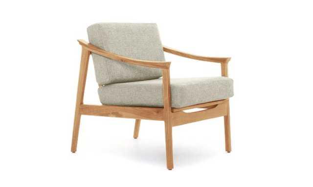 Green Bradshaw Mid Century Modern Chair - Nova Olive - Cherry - Joybird