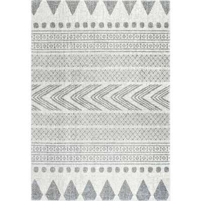 Shaina Tribal Grey 8 ft. x 10 ft. Area Rug - Home Depot