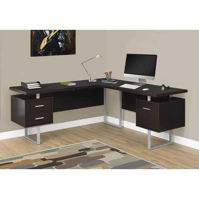 Sova 3 Drawer L-Shape Executive Desk - AllModern