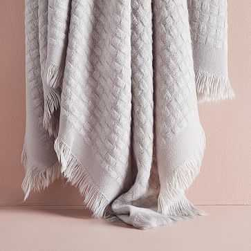 "Waffle Weave Throw, 50""x60"", Platinum - West Elm"