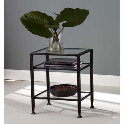 Black Metal End Table - Home Depot