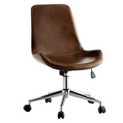 Furniture of America Manale Brown Modern Leather Office Chair - Home Depot
