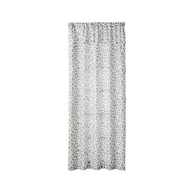 """Mattea Grey and White Curtain Panel 48""""x108"""" - Crate and Barrel"""