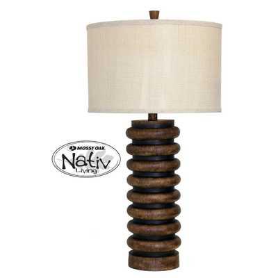 Table Lamp Teak (Brown) (Includes Light Bulb) - StyleCraft - Target