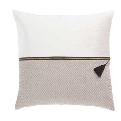 "Design (US) White 22""X22"" Pillow - Collective Weavers"