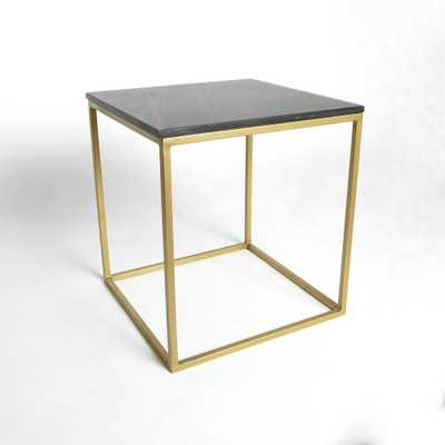 Best Home Fashion Marble Black Square Accent Table - Home Depot