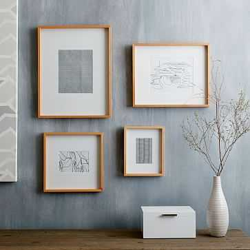 Thin Wood Gallery Frame, Bamboo, Assorted Set of 4 - West Elm
