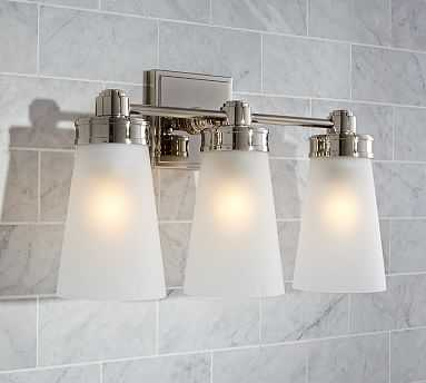 Pearson Sconce, Triple, Polished Nickel finish - Pottery Barn
