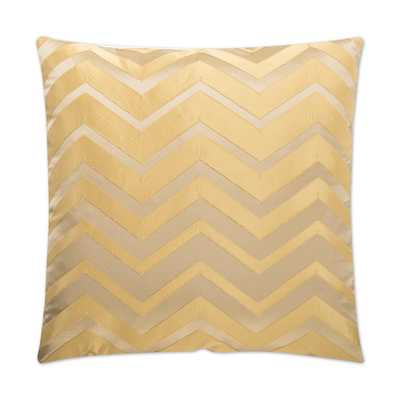 Dv Kap Bliss Gold Feather Down 24 in. x 24 in. Standard Decorative Throw Pillow - Home Depot