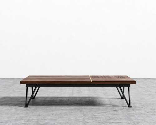 Bennett Coffee Table - Walnut Veneer Black Leg - Rove Concepts