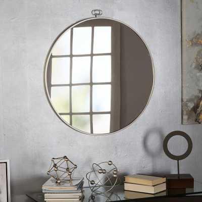 Jemima Round Silver Mirror - Home Depot