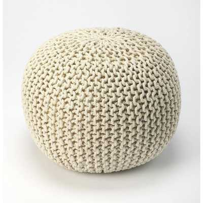 Pincushion Woven Pouf Off - White - Butler Specialty, Off- White - Target