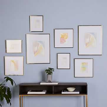 Gallery Frames, Antique Brass, Set of 8 - West Elm