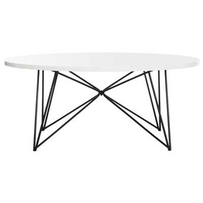 Safavieh Maris White Coffee Table - Home Depot