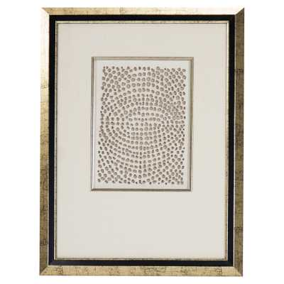 Modern Gold Abstract Paper Framed Wall Art - III - Kathy Kuo Home