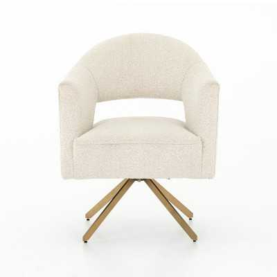 Harlot Chair, Linen, Natural, Polished Brass - Williams Sonoma