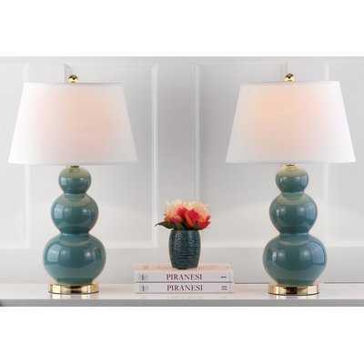 "Ellzey Triple Gourd Ceramic 27"" Table Lamp - Birch Lane"