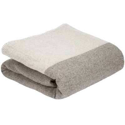 Platinum (White) 100% Australian Wool Full/Queen Blanket - Home Depot