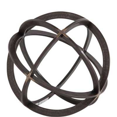 Mercana Galenna Medium Decorative Object, Black - Home Depot