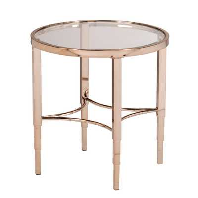 Bertha Metallic Gold End Table, Metallic Gold Finish - Home Depot