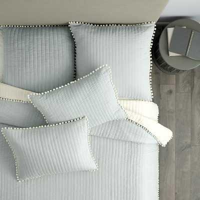 Ballard Designs Audree Pom Pom Quilt Spa King - Ballard Designs
