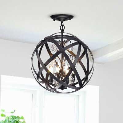 Hannon Semi-Flush 4-Light Globe Chandelier - Wayfair