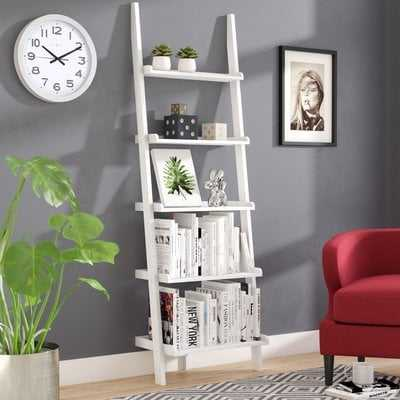 Gilliard Ladder Bookcase - White - Wayfair