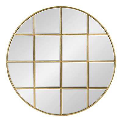 Denault Round Gold Wall Mirror - Home Depot