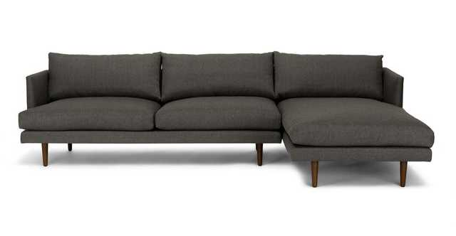 Burrard Graphite Gray Right Sectional Sofa - Article