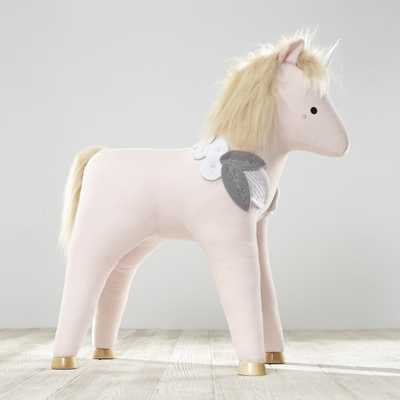 Plush Unicorn Ride On Toy - Crate and Barrel