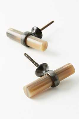 Antler Melody Toggle Knobs, Set of 2 - Anthropologie