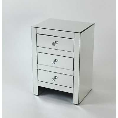 Wayborn 3-Drawers Clear Beveled Mirror Chest - Home Depot