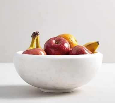 White Marble Fruit Bowl - Pottery Barn