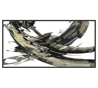 "Expression Abstract 1 Framed Print, 51 x 26"" - Pottery Barn"