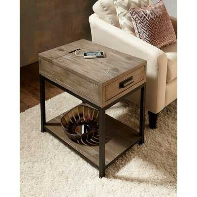 Upson End Table with Storage - AllModern