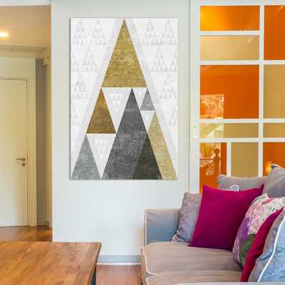 Mod Triangles III.B Graphic Art on Wrapped Canvas - Wayfair