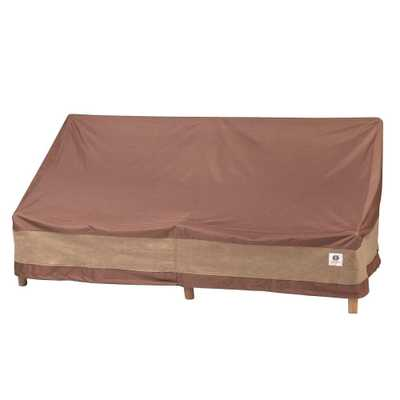 Duck Covers Ultimate 93 in. W Patio Sofa Cover, Cappuccino - Home Depot