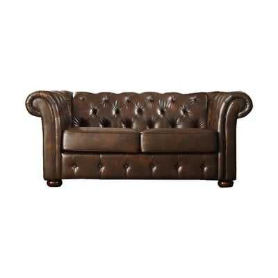 Vegard Tufted Chesterfield Faux Leather Loveseat - Wayfair