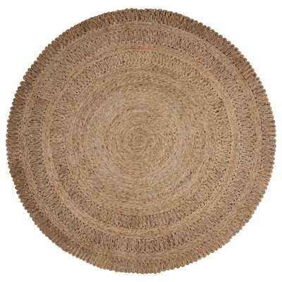 Natural Jute Gray 4 ft. x 4 ft. Round Indoor Area Rug - Home Depot