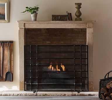 Chateau Bronze Fireplace Screen - Pottery Barn