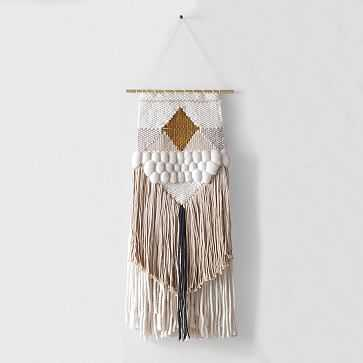 Sun Woven Wall Hanging, Large, Natural - West Elm