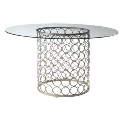 48 Audrey Round Glass Top Table - Carolina Chair & Table - Target