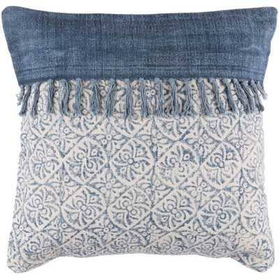 Alsace Poly Euro Pillow, Blue - Home Depot