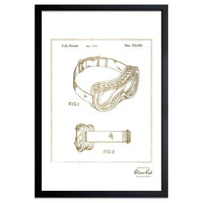 'Ski Mask 1992' Framed Drawing Print in Gold - Wayfair