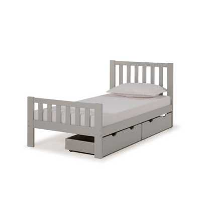 Twin Aurora Bed With Storage Drawers Dove Gray - Alaterre Furniture - Target