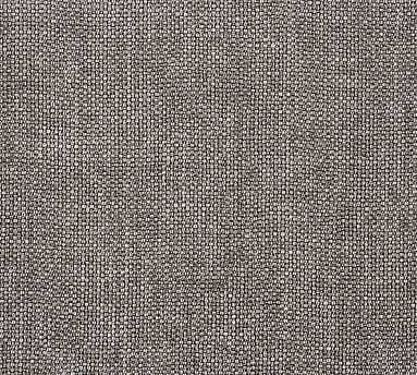 Fabric By the Yard - Performance Brushed Basketweave Charcoal - Pottery Barn