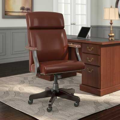 State High Back Genuine Leather Executive Chair - Wayfair
